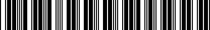 Barcode for DRG007277